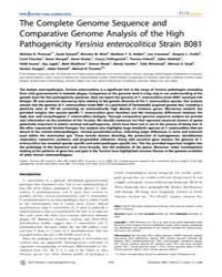 Plos Genetics : the Complete Genome Sequ... by Richardson, Paul M.