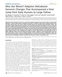 Plos Genetics : Who Ate Whom Adaptive He... by Richardson, Paul M.