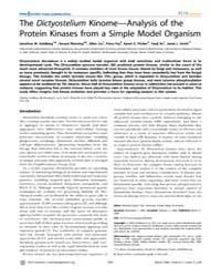 Plos Genetics : the Dictyostelium Kinome... by Snyder, Michael