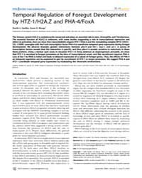 Plos Genetics : Temporal Regulation of F... by Frankel, Wayne N.