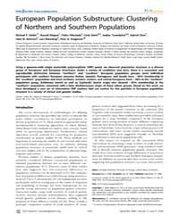 Plos Genetics : European Population Subs... by Pritchard, Jonathan