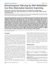 Plos Genetics : Retrotransposon Silencin... by Ferguson-smith, Anne C.