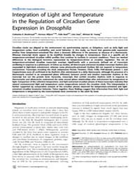 Plos Genetics : Integration of Light and... by Gibson, Greg