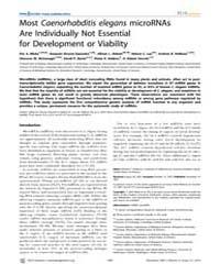 Plos Genetics : Most Caenorhabditis Eleg... by McManus, Michael T.