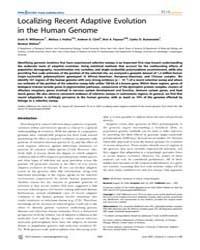 Plos Genetics : Localizing Recent Adapti... by McVean, Gil