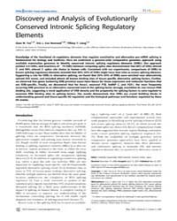 Plos Genetics : Discovery and Analysis o... by Hayashizaki, Yoshihide