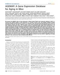 Plos Genetics : Agemap ; a Gene Expressi... by Frankel, Wayne N.