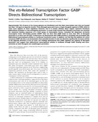 Plos Genetics : the Ets-related Transcri... by Stubbs, Lisa