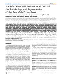 Plos Genetics : the Cdx Genes and Retino... by Mullins, Mary