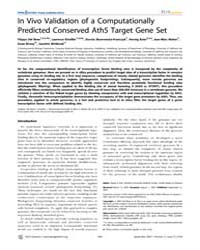 Plos Genetics : in Vivo Validation of a ... by Kim, Stuart K.