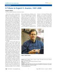 Plos Genetics : a Tribute to Evgenii V. ... by Petrov, Dmitri A.