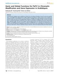 Plos Genetics : Genic and Global Functio... by Steensel, Bas Van