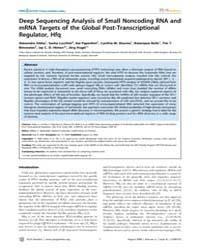 Plos Genetics : Deep Sequencing Analysis... by Burkholder, William F.