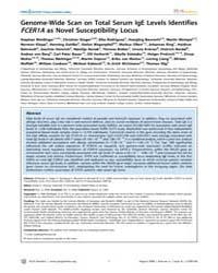Plos Genetics : Genome-wide Scan on Tota... by Cheung, Vivian G.