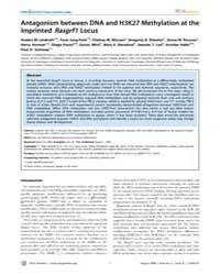 Plos Genetics : Antagonism Between Dna a... by Steensel, Bas Van
