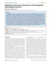 Plos Genetics : Duplication and Gene Con... by Schierup, Mikkel H.