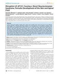Plos Genetics : Disruption of Ap1S1, Cau... by Heyningen, Veronica Van