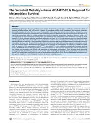 Plos Genetics : the Secreted Metalloprot... by Barsh, Greg