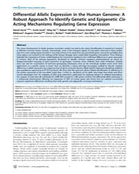 Plos Genetics : Differential Allelic Exp... by Dermitzakis, Emmanouil T.