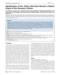 Plos Genetics : Identification of the Ye... by Georges, Michel