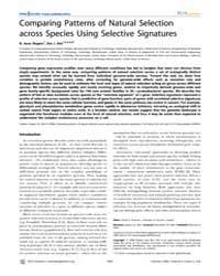Plos Genetics : Comparing Patterns of Na... by Guttman, David S.