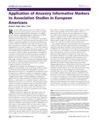Plos Genetics : Application of Ancestry ... by Pritchard, Jonathan K.