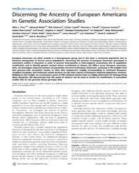 Plos Genetics : Discerning the Ancestry ... by Pritchard, Jonathan K.