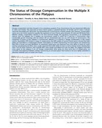 Plos Genetics : the Status of Dosage Com... by Lee, Jeannie T.
