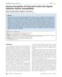 Plos Genetics : Sensory Perception of Fo... by Kim, Stuart K.