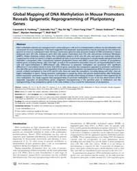 Plos Genetics : Global Mapping of Dna Me... by Frankel, Wayne N.