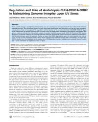 Plos Genetics : Regulation and Role of A... by Copenhaver, Gregory P.