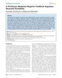 Plos Genetics : a Pi3-kinase–mediated Ne... by Frankel, Wayne N.