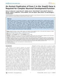 Plos Genetics : an Ancient Duplication o... by Frankel, Wayne N.