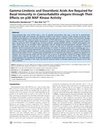 Plos Genetics : Gamma-linolenic and Stea... by Gilst, Marc R. Van