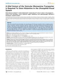 Plos Genetics : a Glial Variant of the V... by Dolph, Patrick J.