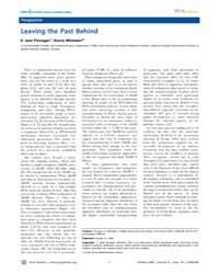 Plos Genetics : Leaving the Past Behind,... by Finnegan, E. Jean
