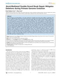 Plos Genetics : Numt-mediated Double-str... by Petrov, Dmitri A.