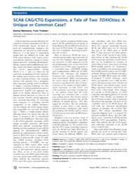 Plos Genetics : Sca8 Cag, Volume 5 by Pearson, Christopher E.
