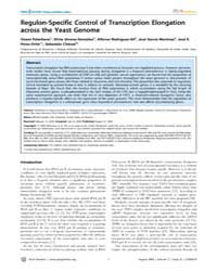 Plos Genetics : Regulon-specific Control... by Snyder, Michael