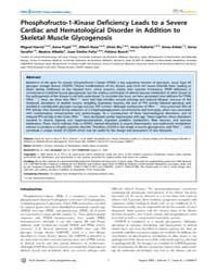 Plos Genetics : Phosphofructo-1-kinase D... by Horwitz, Marshall S.
