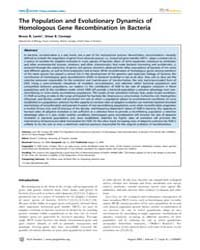 Plos Genetics : the Population and Evolu... by Guttman, David S.