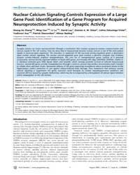Plos Genetics : Nuclear Calcium Signalin... by Orr, Harry