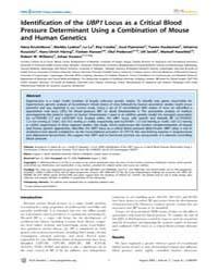 Plos Genetics : Identification of the Ub... by Barsh, Gregory S.