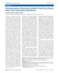 Plos Genetics : Retrotransposon Silencin... by Barsh, Gregory S.