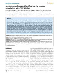 Plos Genetics : Autoimmune Disease Class... by Allison, David B.