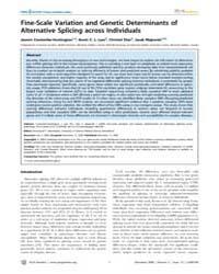 Plos Genetics : Fine-scale Variation and... by Dermitzakis, Emmanouil T.