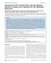 Plos Genetics : Interaction of Hp1 and B... by Akhtar, Asifa