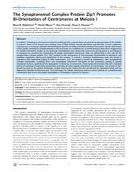 Plos Genetics : the Synaptonemal Complex... by Hawley, R. Scott