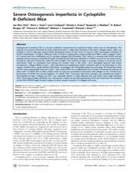 Plos Genetics : Severe Osteogenesis Impe... by Byers, Peter H.