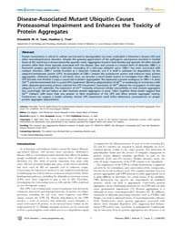 Plos Genetics : Disease-associated Mutan... by Biggins, Sue